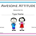 Free Printable Awesome Attitude Award School Certificates