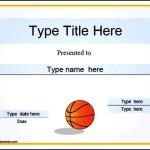 Free Printable Basketball Certificate