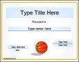 Free Printable Basketball Certificate