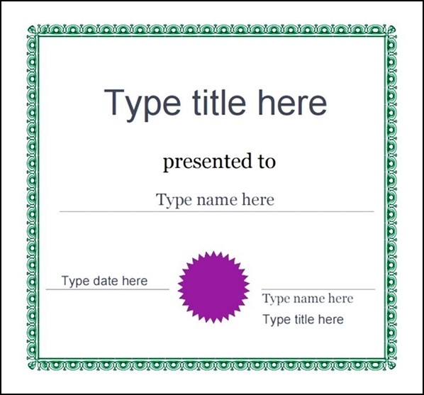 Free Printable Certificates Templates