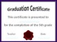 Free Printable Graduation Certificate Completion Template