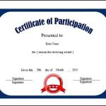 Free Printable Seminar Participation Certificate