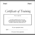 Free Printable Training Certificate Template Doc