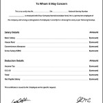 Free Salary Certificate Template & PaySlip