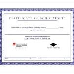 Free Scholarship Award Template