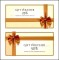 Gift Voucher Certificate Template with Golden Ribbon