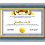 Graduation Certificate Template Word Example