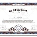 Graduation Completion Certificate Template