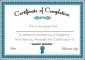Graphic Designer Course Certificate
