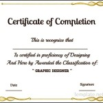 Graphic Designer Course Completion Certificate