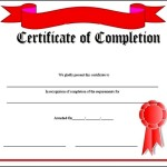 High School Certificate of Completion
