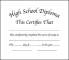 High School Diploma Certificate Format