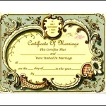 Keepsake Marriage Certificate Format