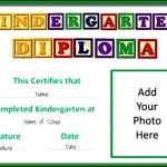 Kindergarten Certificate of Graduation Template