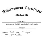 Kindergarten Preschool Certificate of Achievement Free