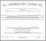 LLC Membership Certificate Template