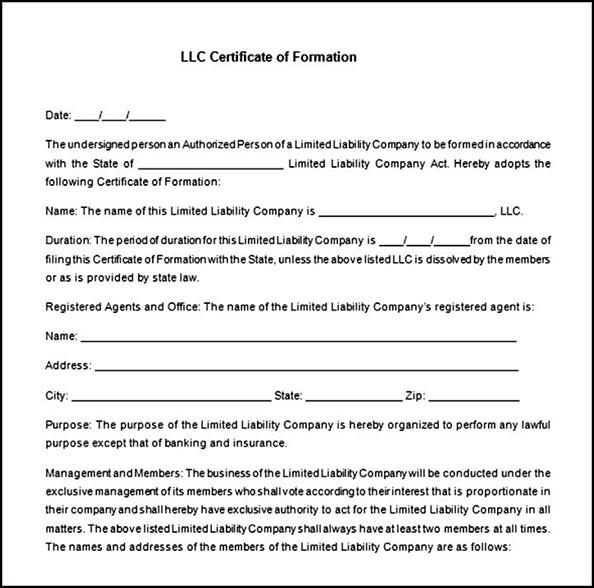 Llc Membership Certificate Template Free Sample Templates