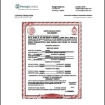 Marriage Certificate Translation Template PDF