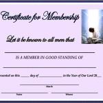 Membership Certificate Template PDF