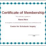 Llc Membership Certificate Template Sample Templates
