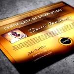 Modern PSD Diploma Certificate Template