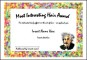 Most Interesting Hair Award Funny Certificate Template
