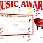 Music Festival Certificate Template