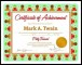 Nursery Potty Trained Certificate Template