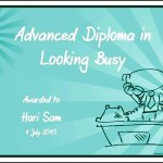 Online Looking Busy in Studies Funny Certificate