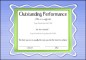 Outstanding Certificate Template
