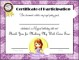 Participation Certificate Template for Kids