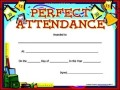 Perfect Attendance Award Template PDF Format
