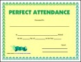 Perfect Attendance Certificate Template
