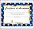 Perfect Attendance Certificate Template Sample