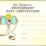 Photography Gift Certificate Vector