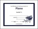 Piano Certificate Templates