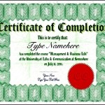 Pictures of Certificate of Completion Template