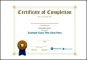 Premium Class Certification Certificate Template EPS