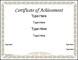 Preschool Certificate of AchievementTemplate