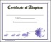 Printable Adoption Certificate Template