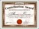 Printable Award Certificate Sample