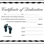 Printable Baby Certificate of Dedication