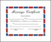 Printable Blank Marriage Certificate Template