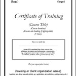 Printable Certificate of Training Template PDF