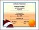 Printable Football Certificates UK Template