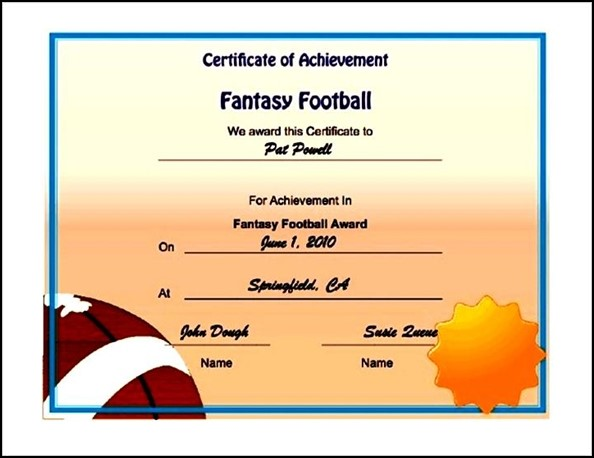 Football Certificates Templates