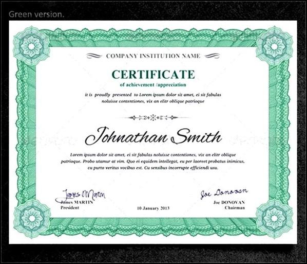 Printable Graduation Certificates