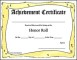Printable Honor Roll Certificate Free