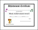 Printable Music Achievement Award Certificate Template