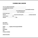 Printable Salary Certificate of Employment Template